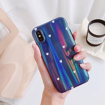 Blue laser heart iphone case