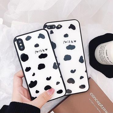 Milk black side  iphone case