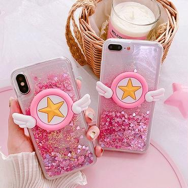 Star wing quicksand iphone case