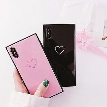 Heart line square iphone case