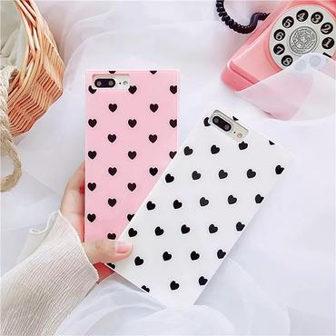 Heart dot square iphone case