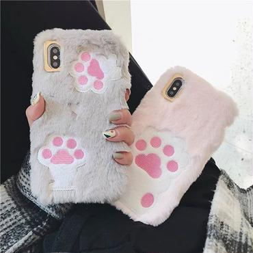 Cat paw fur iphone case