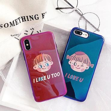 Couple laser iphone case