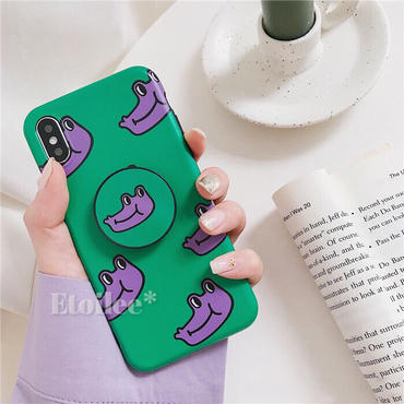 Purple crocodile  with stand iphone case