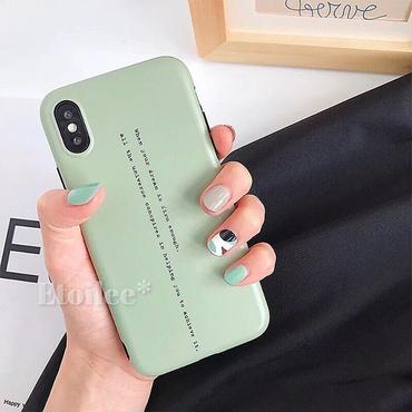 Green letter iphone case