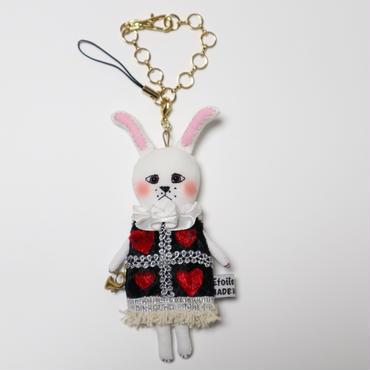 法廷うさぎ ドールチャーム(Court rabbits doll charm)