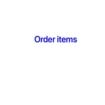 Order item.