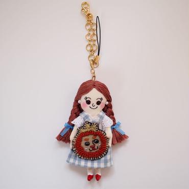 オズの魔法使い ドロシー×ライオン ドールチャーム(Wizard of Oz  Dorothy × Lion doll charm)