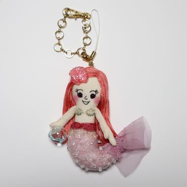 人魚姫ピンク ドールチャーム( Little Mermaid doll charm)