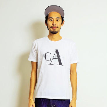 イーブンフロウ CA ロゴ Tシャツ #ホワイト