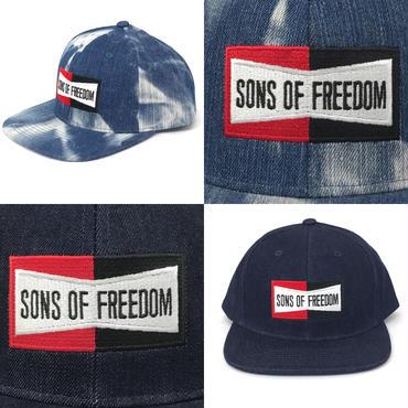 """ボックスロゴ キャップ """"デニム生地""""  by Sons Of Freedom"""
