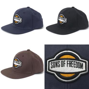"""オーバル ロゴ キャップ """"ツイル生地""""  by Sons Of Freedom"""