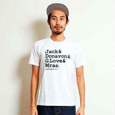 イーブンフロウ 4シンガーズ Tシャツ #ホワイト