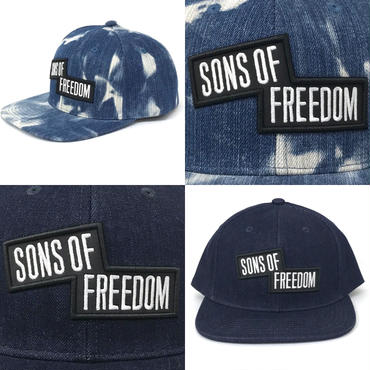 """スラッシュボックス ロゴ キャップ """"デニム生地""""  by Sons Of Freedom"""