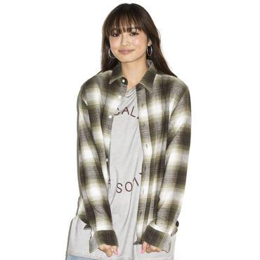 Fine掲載 イーブンフロウ made in Japan ネル ワークシャツ #グリーン
