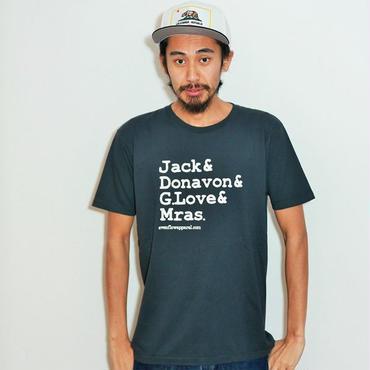 イーブンフロウ 4シンガーズ Tシャツ #ブラック