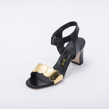 170099 KIP SANDAL GOLD/BLACK