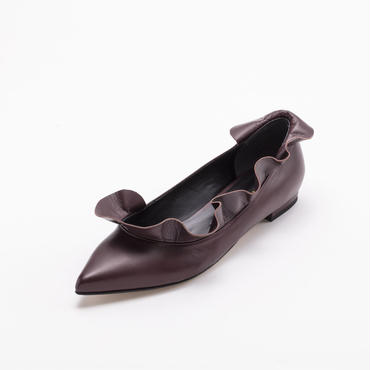 RAFFLED FLAT BORDEAUX