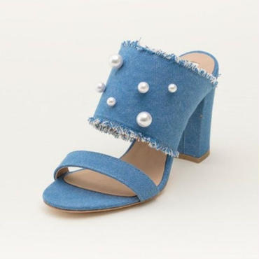 DENIM/PEARL MULE FADE BLUE