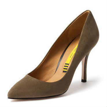 SUEDE PUMPS OLIVE