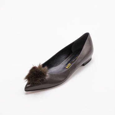 FAUX FUR FLAT DARK BROWN