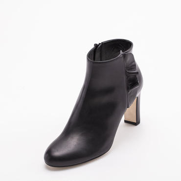 RAFFLED BOOTIES BLACK