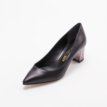 METALLIC HEEL PUMPS BLACK