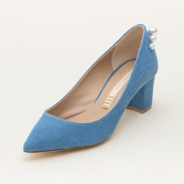 DENIM/PEARL PUMPS FADE BLUE