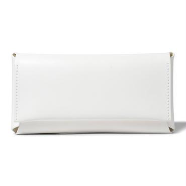 コンパクト設計の長財布    LONG WALLET / WHITE