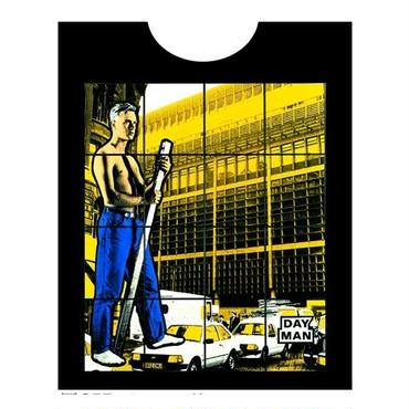 Gilbert and George  (DAY MAN) Tシャツ/ ブラック
