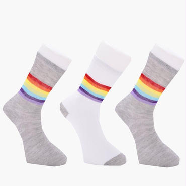 ‹‹ RAINBOW STRIPE ›› ソックス (3Pack)