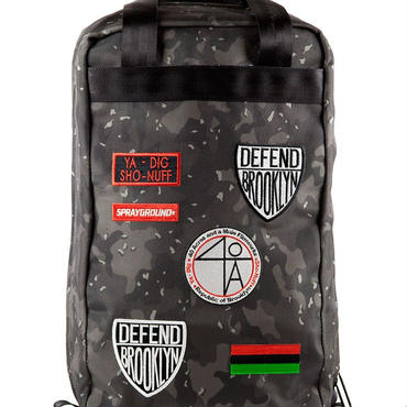 "SPRAYGROUND SPIKE LEE ""40 Acres"" PATCHES BACKPACK"