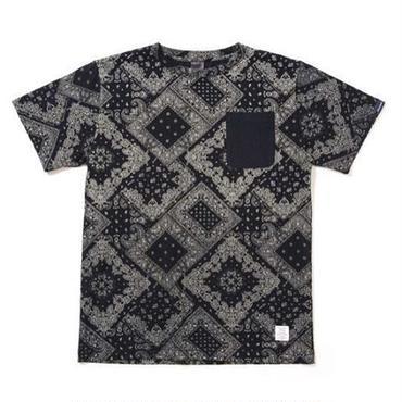 APPLEBUM Indigo Paisley Pocket T-shirt