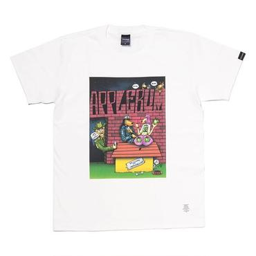 "APPLEBUM ""Doggystyle"" T-shirt (Drawing by ""Joe Cool"") [White]"