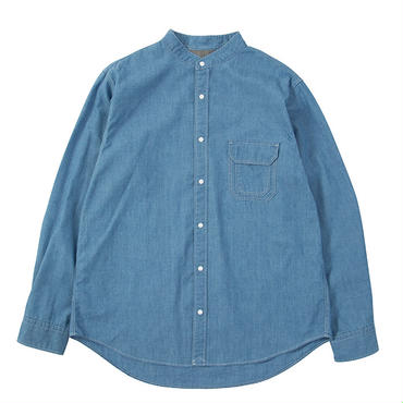 THE NORTH FACE PURPLE LABEL Indigo Chambray Stand Collar Shirt