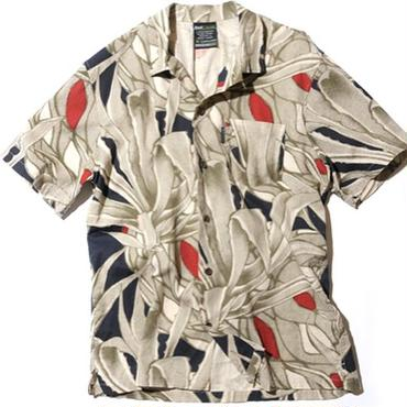 BackChannel  BackChannel-PLANTS LINEN HALF SLEEVE SHIRT