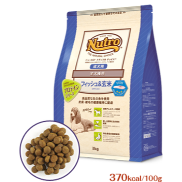 NATURAL  CHOICE 全犬種用 成犬用 フィッシュ&玄米 3㎏