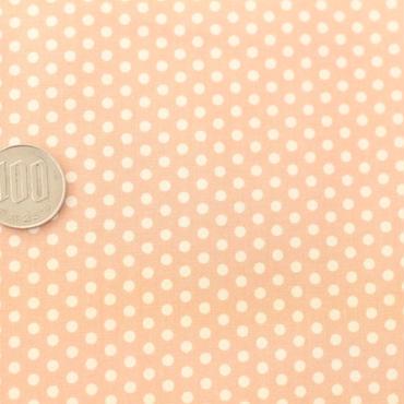 水玉ドット アプリコット 50cm
