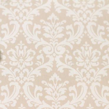 ダマスク ベージュ×ホワイト 50cm