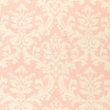ダマスク ピンク×ホワイト 50cm