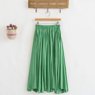 【全5色】ボリュームフレアでひらり♪ロングスカート