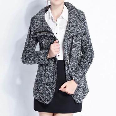 スタイリッシュスリム ウールジャケットコート