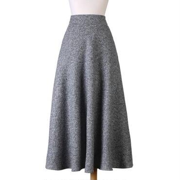 ハイウエストで細見せスタイル フレアロングスカート