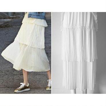 女性らしい華奢な可愛らしさを ティアードスカート