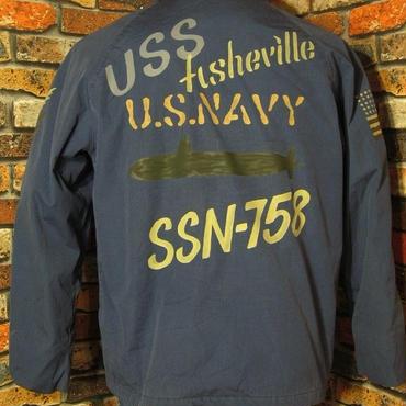 米海軍 ユーティリティジャケット Lサイズ44 ステンシル USN 手描き