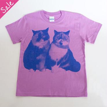 【SALE】ごまめめ なかよし親子Tシャツ(ラベンダー)