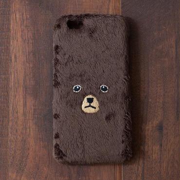 [KEORA KEORA] クマiPhoneカバー(ハードタイプ) - ブラウン