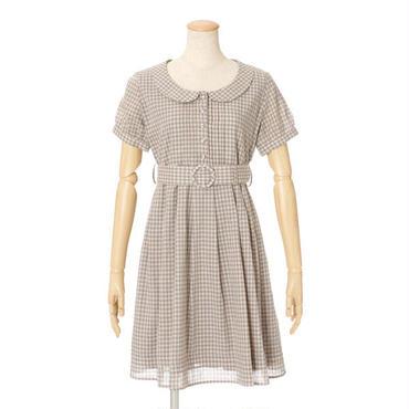 丸衿ベルト付きシャツワンピース/F i.n.t