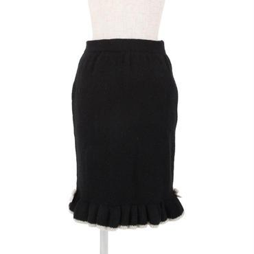 裾フリルニットタイトスカート/F&A
