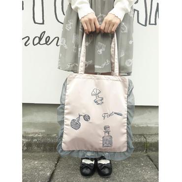 香水刺繍フリルサテントート/F i.n.t